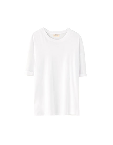 Coloured basic oversized T-shirt