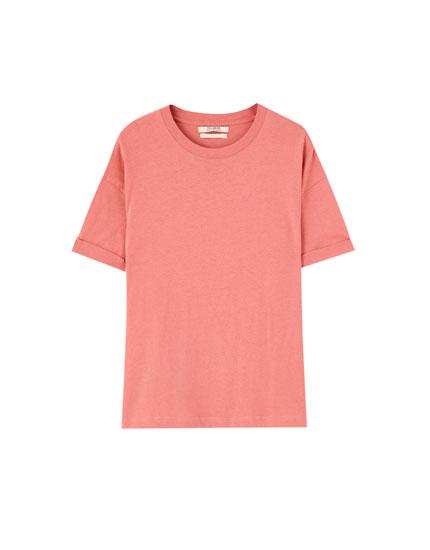 T-shirt básica oversize colorida