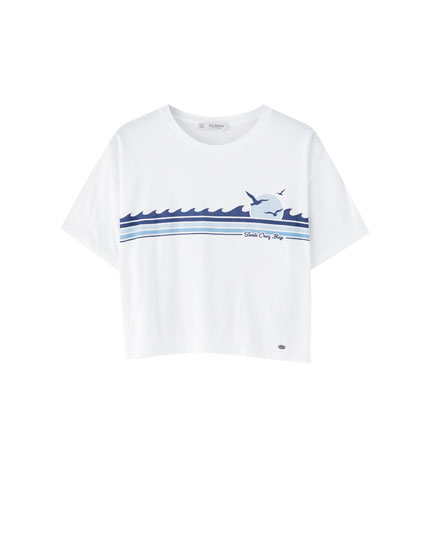 T-shirt vagues Santa Cruz