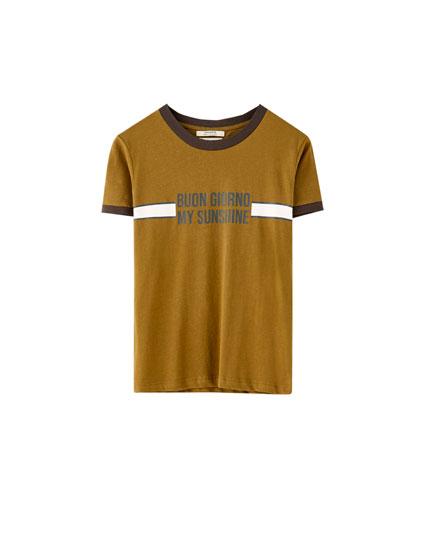 """""""Buongiorno"""" ribbed T-shirt"""