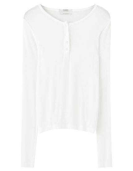 Basic henley T-shirt