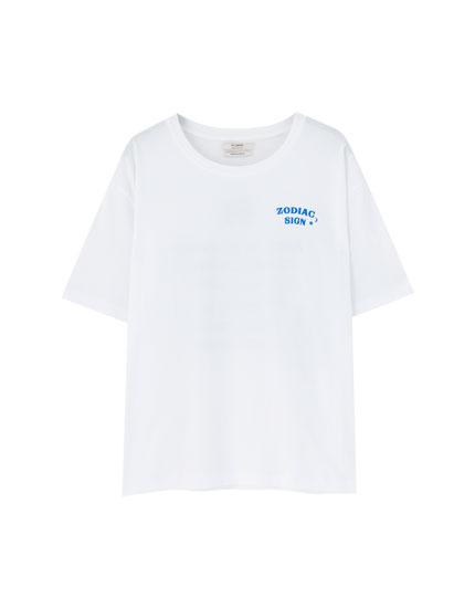 Camiseta blanca Zodiaco