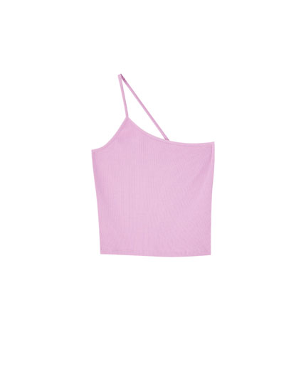 Top with asymmetric strap
