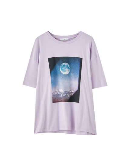Moon illustration T-shirt
