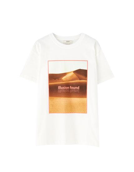 White desert T-shirt