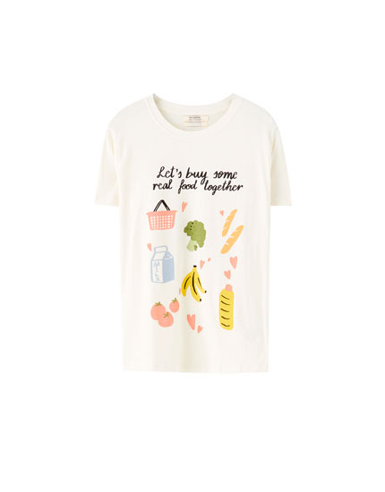 Real food illustration T-shirt