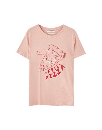 T-shirt met contrasterende afbeelding