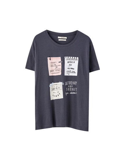 Notes illustration T-shirt