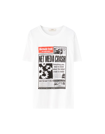 Newspaper illustration T-shirt