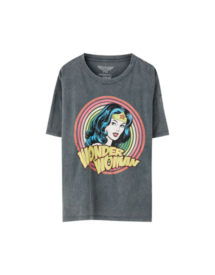 T-Shirt mit Motiv Wonder Woman