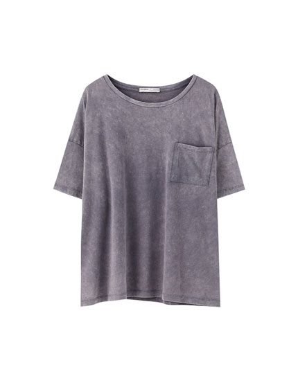 Faded cropped T-shirt