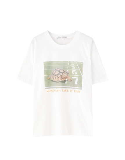 White tortoise T-shirt