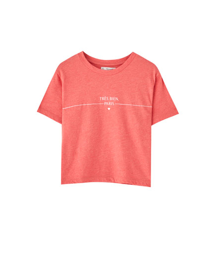 T-shirt corail Paris