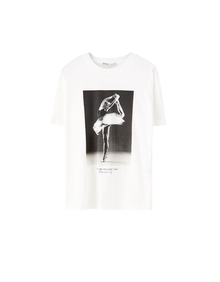 Ballerina illustration T-shirt