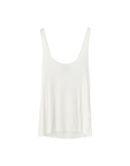 Basic ribbed vest top