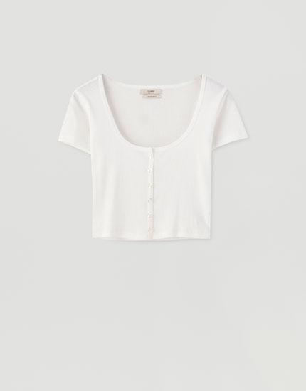 Camiseta manga corta botones