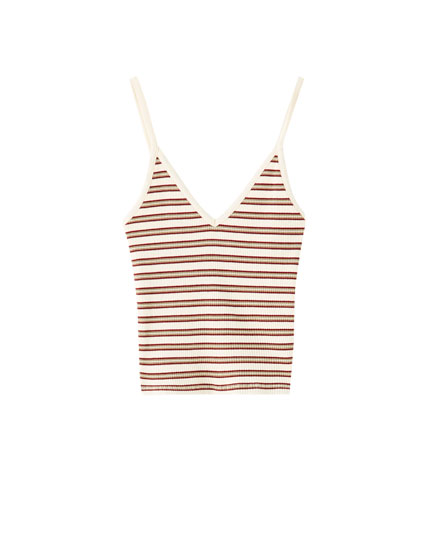 Join Life striped vest top