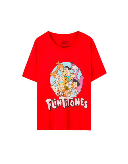 Red The Flintstones T-shirt