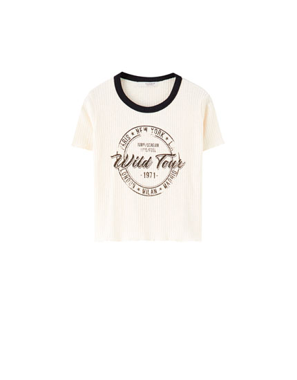 Camiseta canalé ilustración wild tour