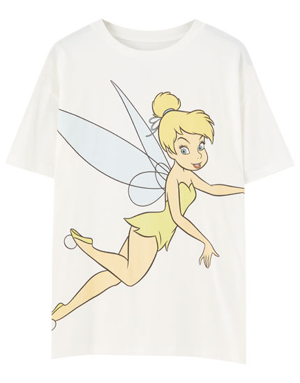 White T-shirt with Tinker Bell illustration