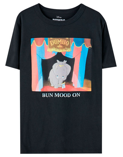 "Shirt mit Motiv Dumbo ""Bun mood on"""