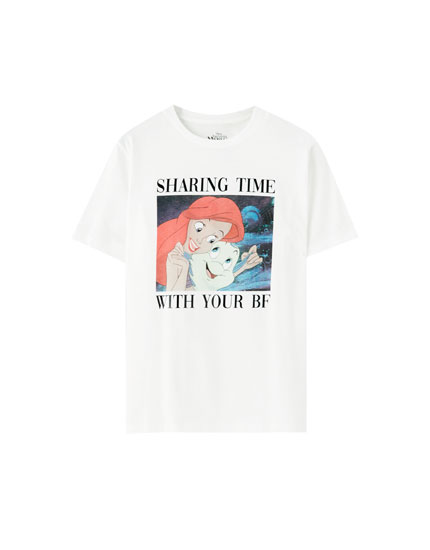 Little Mermaid slogan T-shirt