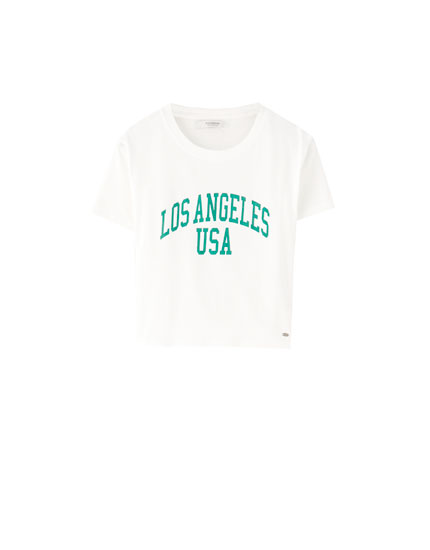 Los Angeles cropped T-shirt