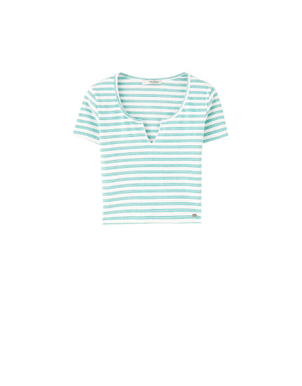 Camiseta cropped raias pico