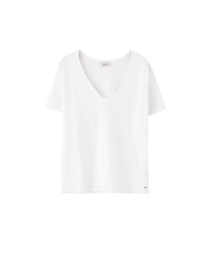 Basic slub knit T-shirt