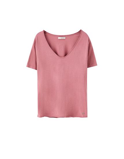 Camisetas Basicas Camiseta Tirantes Basica Pull Bear El Rosa