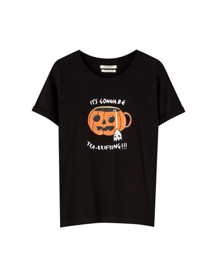 Pumpkin T-shirt with slogan