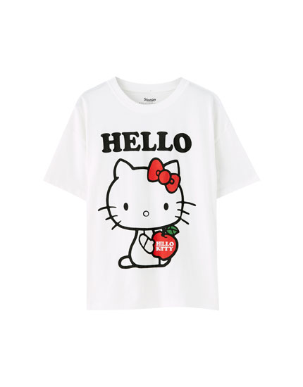 T-shirt da Hello Kitty com maçã