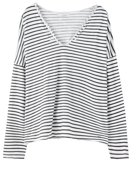 Basic T-shirt with horizontal stripes