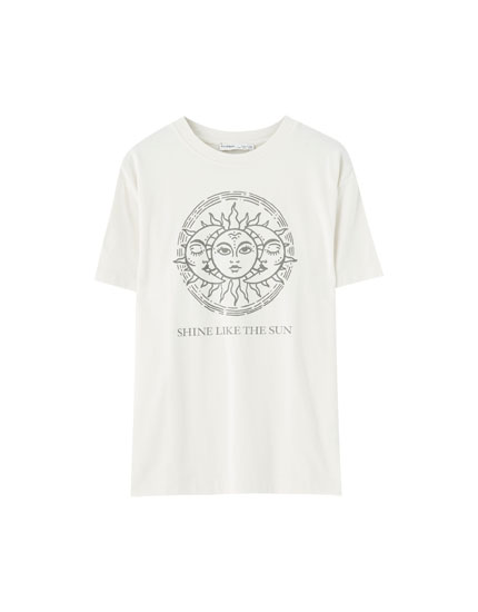 T-shirt with sun graphic