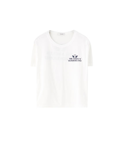 """The Angel's Wonderland"" slogan T-shirt"
