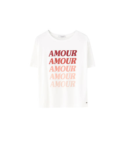 """Amour"" slogan T-shirt"