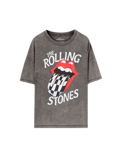 T-Shirt The Rolling Stones mit Karos