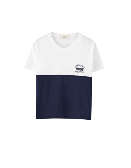 Cropped Marc Márquez colour block T-shirt