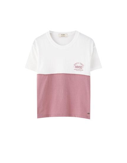 T-shirt Marc Márquez com color block cropped