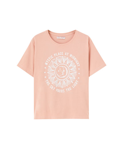 Faded printed graphic T-shirt