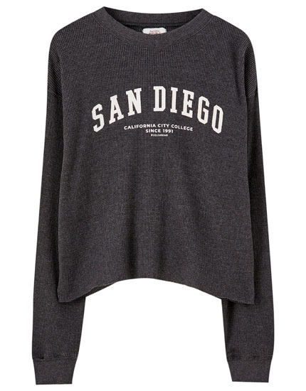 San Diego T-shirt in check texture