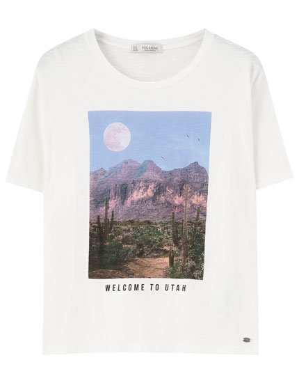 T-shirt with Utah desert illustration
