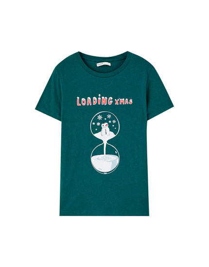 Printed motif T-shirt