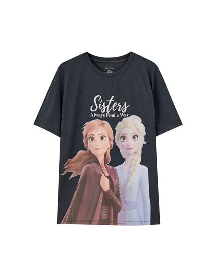 T-shirt med Anna & Elsa fra Frost