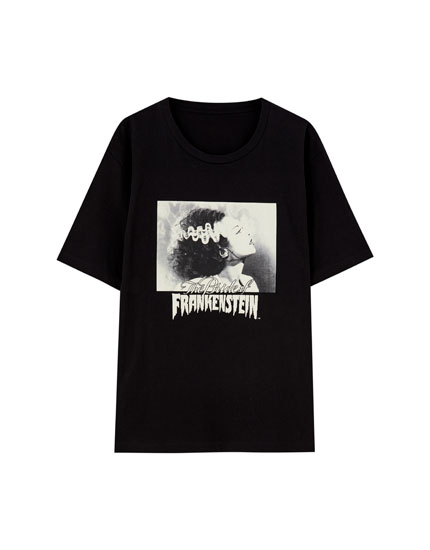 Frankenstein T-shirt in black