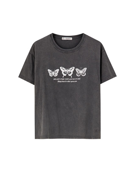 Butterfly illustration T-shirt