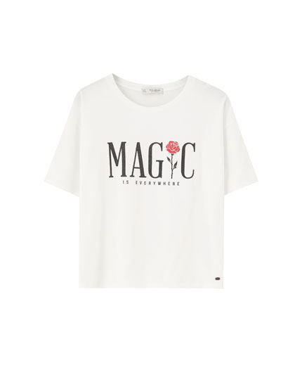 'Magic' rose T-shirt