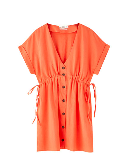 Short coral dress