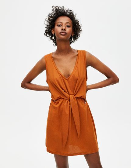 Knotted mini dress