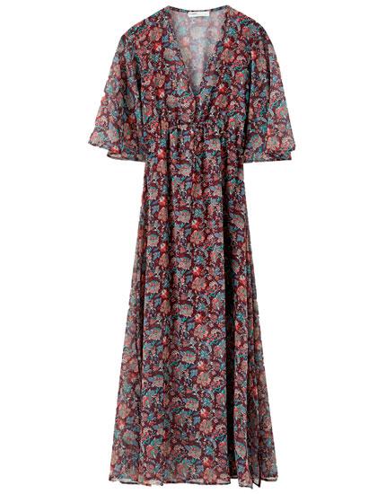 Μίντι φόρεμα με λουλούδια